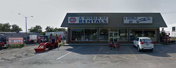 A World of Rentals store front